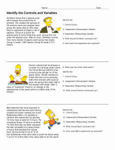 Simpsons Variables Worksheet Answers New Experimental Design with the Simpsons