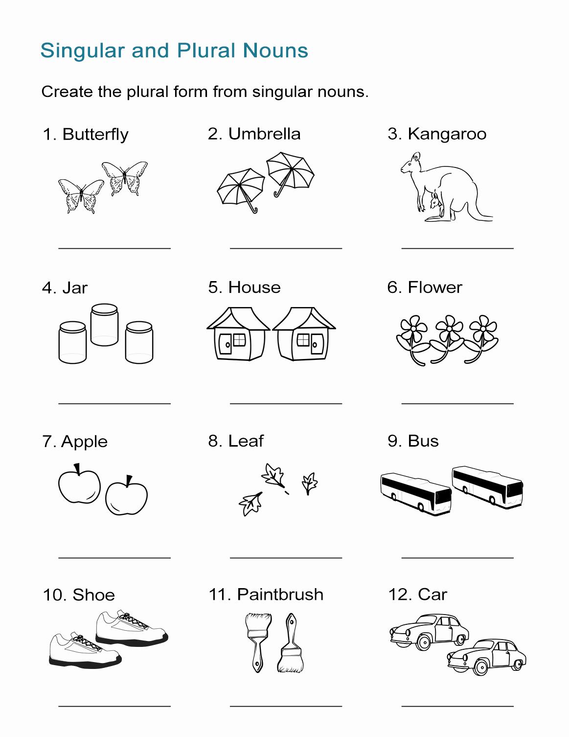 Singular and Plural Nouns Worksheet Awesome Singular and Plural Nouns Worksheet All Esl