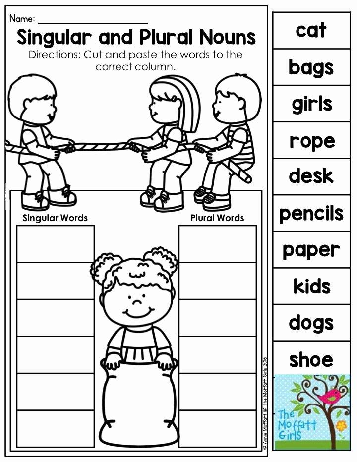 Singular and Plural Nouns Worksheet Elegant Mastering Grammar and Language Arts Grammar