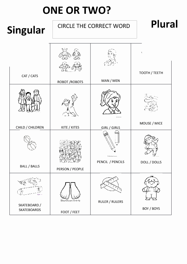 Singular and Plural Nouns Worksheet Lovely 163 Free Singular Plural Nouns Worksheets