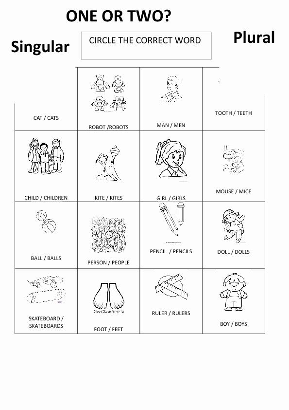 Singular and Plural Nouns Worksheet Lovely 163 Free Singular Plural Nouns Worksheets