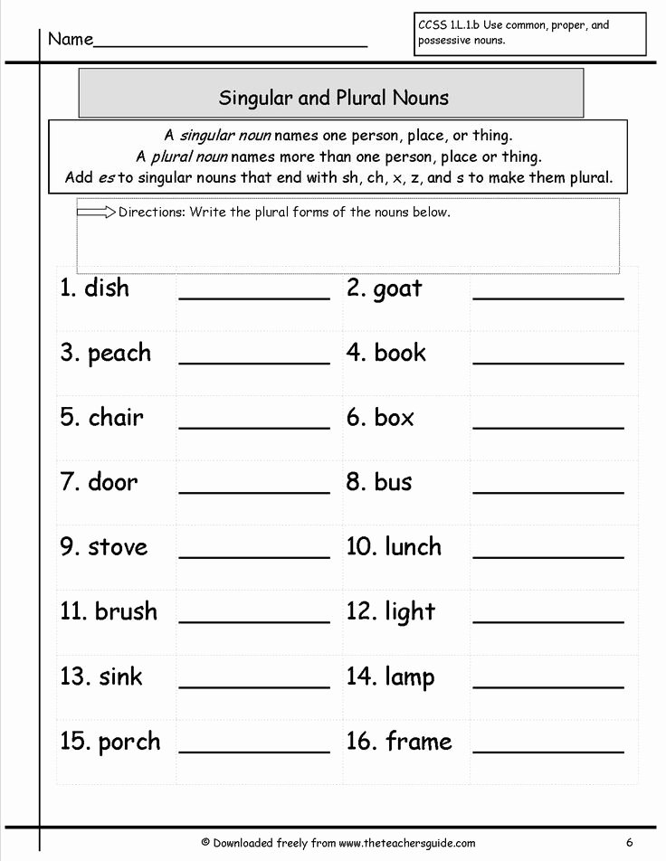 Singular and Plural Nouns Worksheet Luxury Singular and Plural Nouns Worksheet Esl