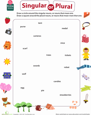 Singular and Plural Nouns Worksheet Unique Get Into Grammar Singular or Plural Nouns