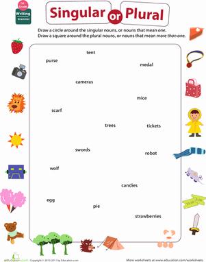 Singular and Plural Nouns Worksheet Unique Get Into Grammar Singular or Plural Nouns