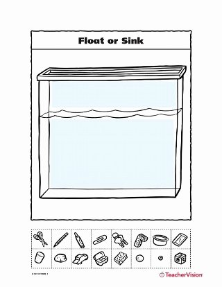 Sink or Float Worksheet Awesome Float or Sink Teachervision