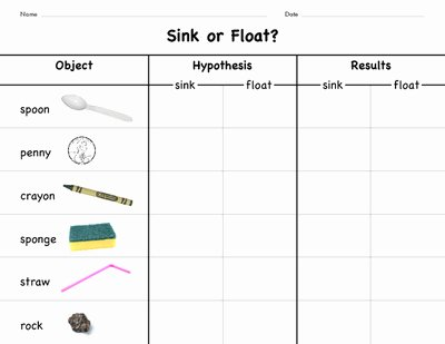 Sink or Float Worksheet Inspirational 42 Sink Float Worksheet Float and Sink Word Search Word