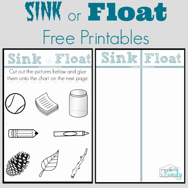 Sink or Float Worksheet Inspirational This Sink or Float Chart is Free Along with A Fun Lesson