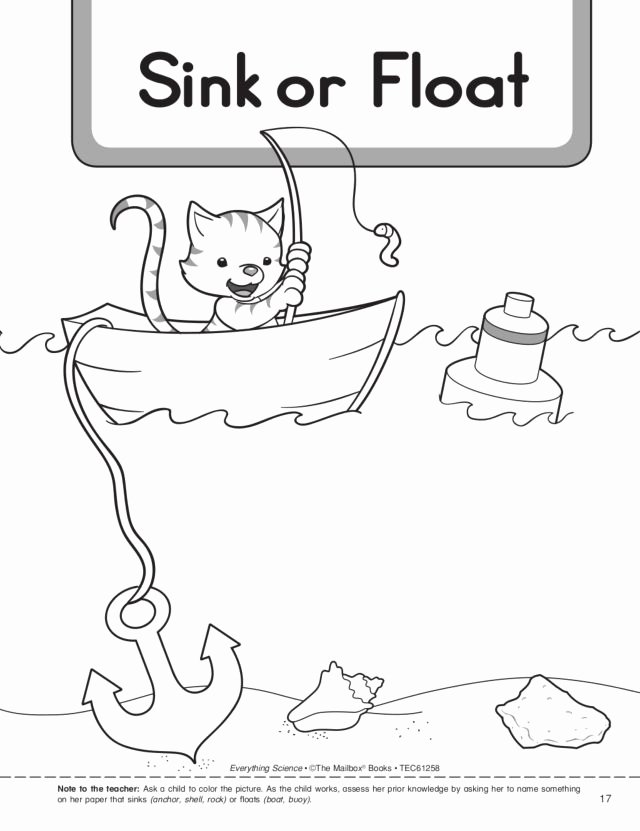 Sink or Float Worksheet Lovely 35 Sink and Float Lesson Plans for Kindergarten Buoyancy