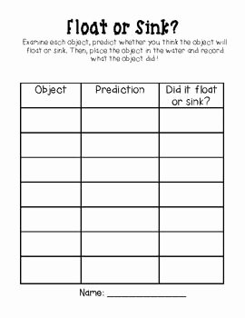 Sink or Float Worksheet Luxury 17 Best Images About Science On Pinterest