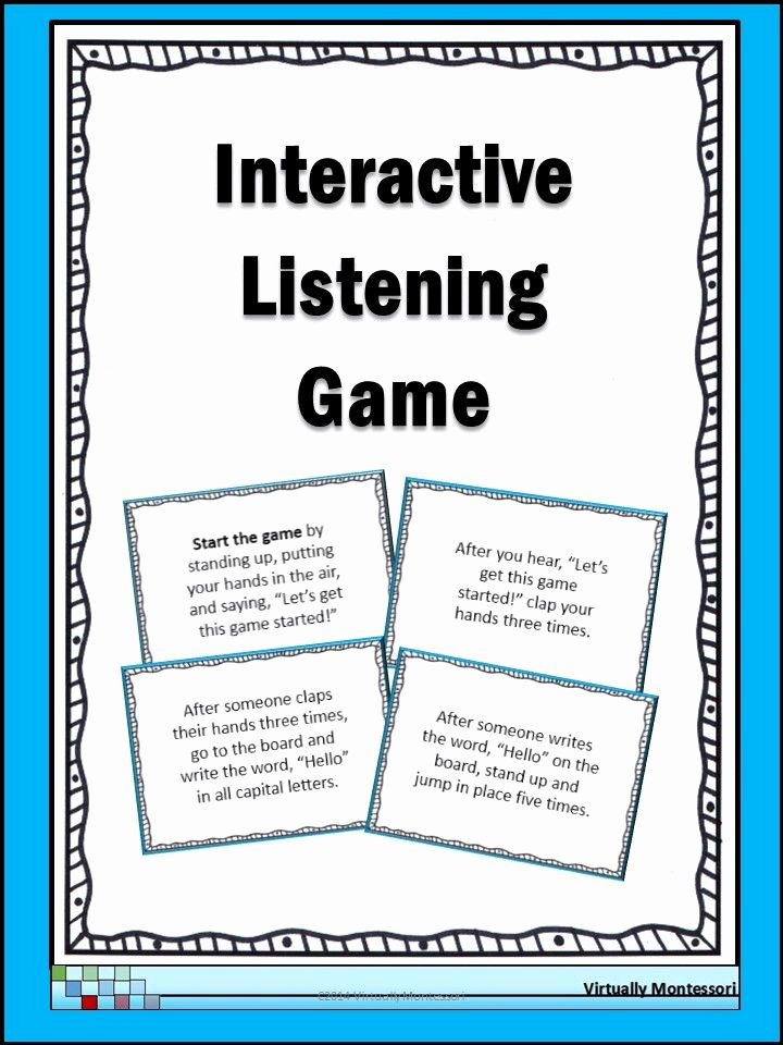 Skills Worksheet Active Reading Best Of Interactive Listening Game Icebreaker and Munity