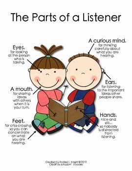 Skills Worksheet Active Reading Fresh the Parts Of A Listener by andrea Knight