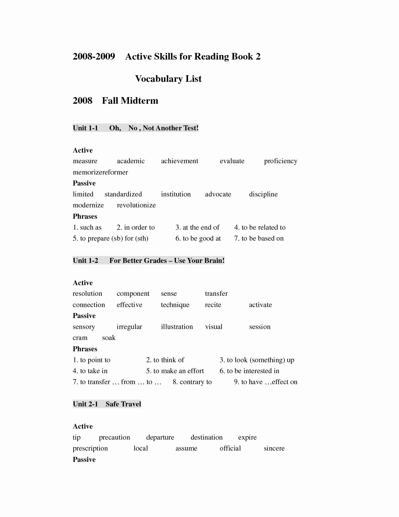 Skills Worksheet Active Reading Inspirational 12 Best Of Active Reading Strategies Worksheet