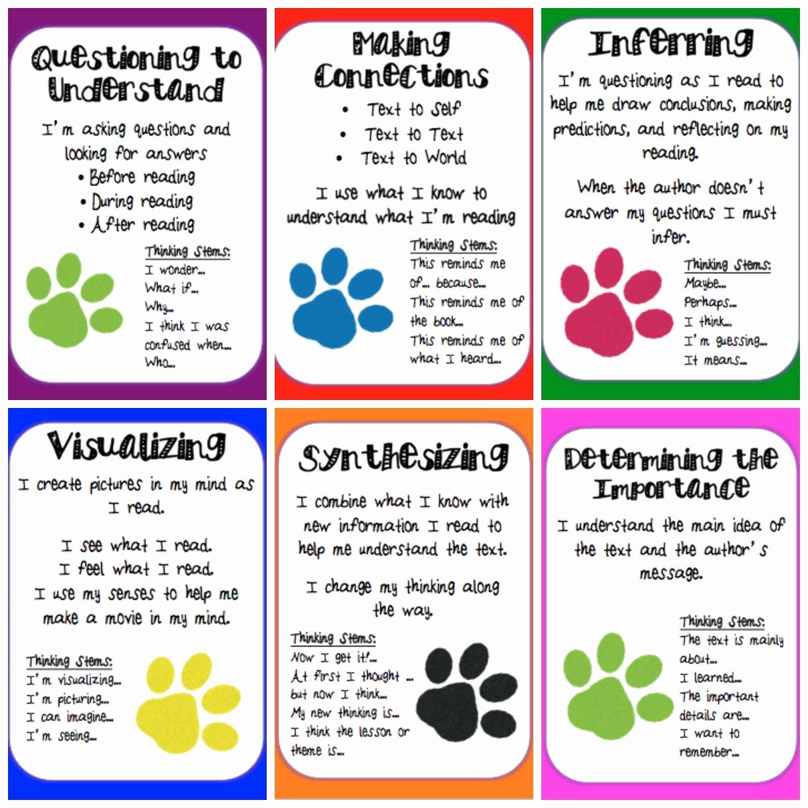 Skills Worksheet Active Reading Lovely Reading Strategies Printable
