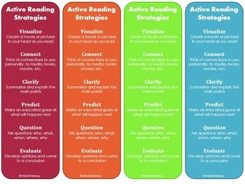 Skills Worksheet Active Reading Luxury Reading Strategy Bookmarks Free by Iheartliteracy