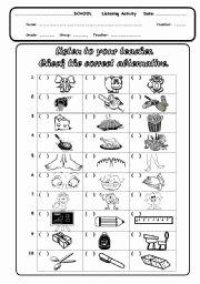 Skills Worksheet Active Reading New Listening Activity for Kids Esl Worksheet by Thalia Gralik
