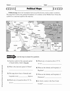 Skills Worksheet Concept Mapping Best Of Political Maps 5th 6th Grade Worksheet