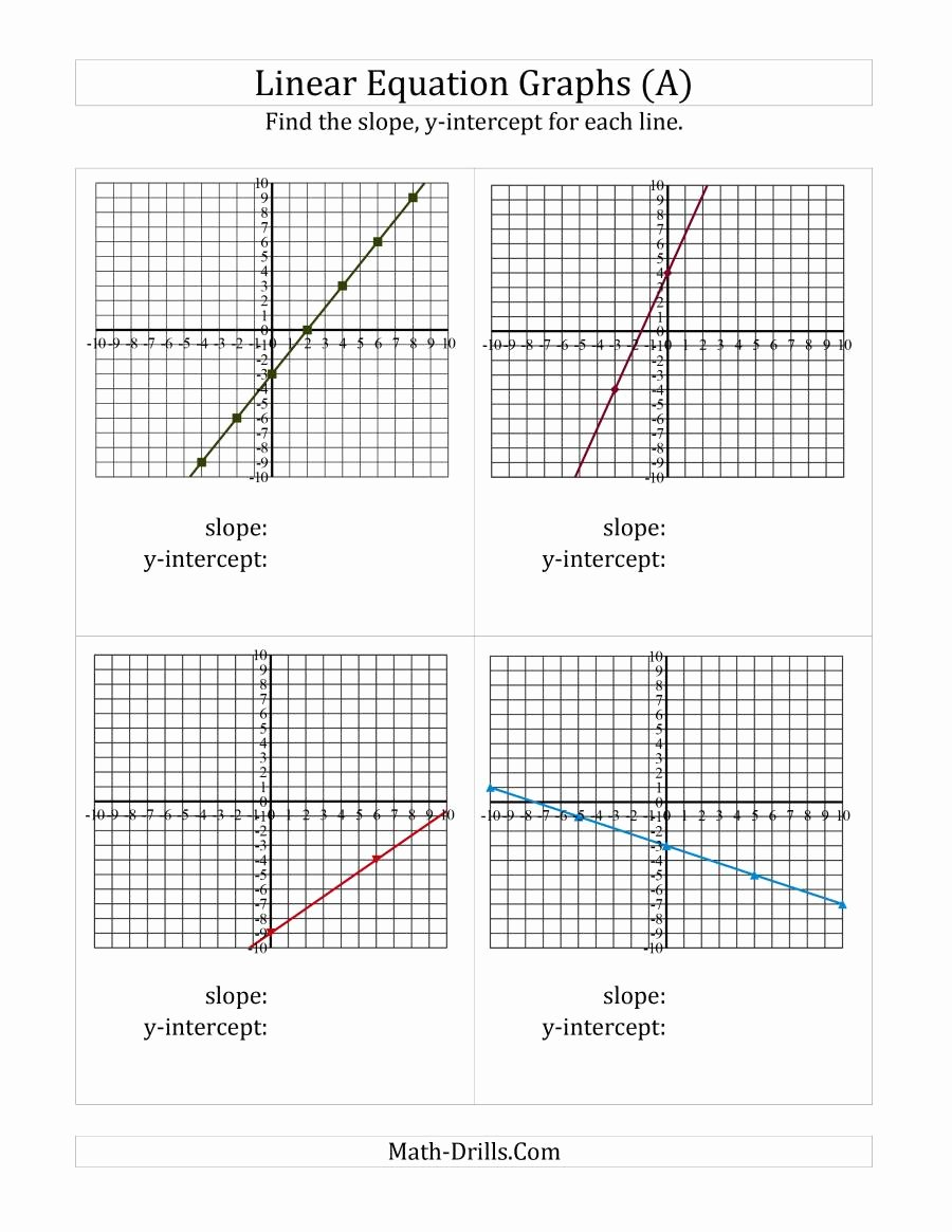 Slope From A Graph Worksheet Best Of Finding Slope and Y Intercept From A Linear Equation Graph E