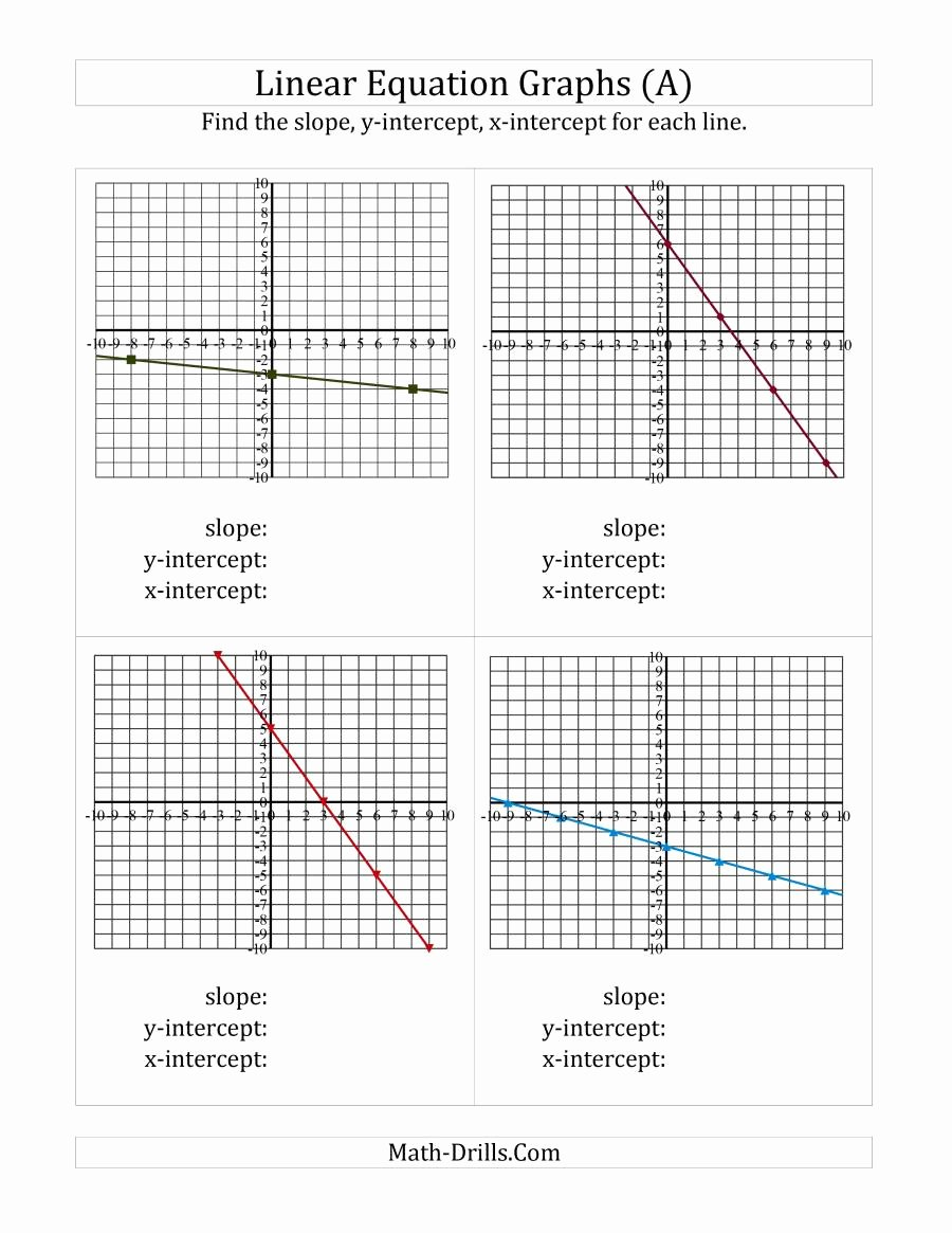 Slope From A Graph Worksheet Lovely Finding Slope and Intercepts From A Linear Equation Graph E