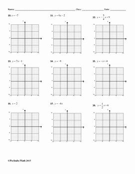 Slope From A Graph Worksheet Lovely Graphing Linear Equations In Slope Intercept form Algebra
