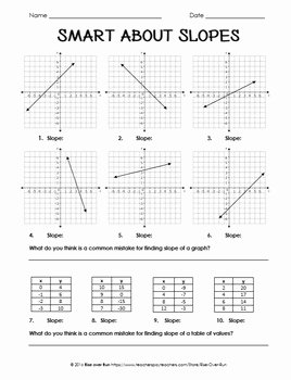 Slope From A Graph Worksheet New Slope Practice Worksheet by Rise Over Run