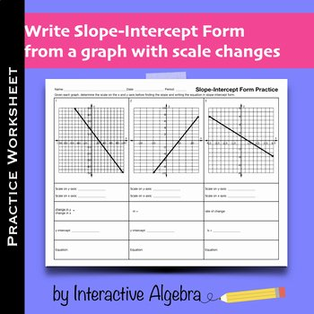 Slope From A Graph Worksheet Unique Practice Worksheet Slope Intercept form From A Graph with