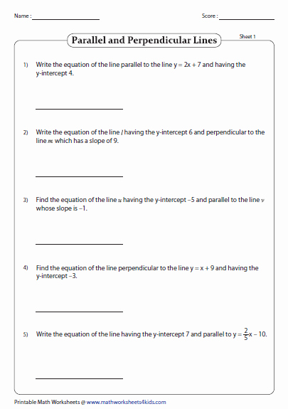Slope Intercept form Worksheet Elegant Slope Intercept form Of Equation Of A Line Worksheets