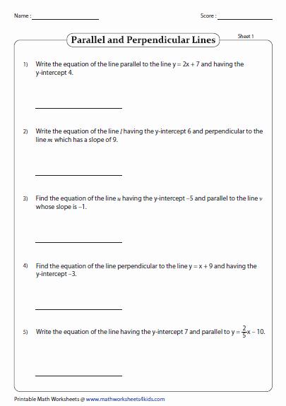 Slope Intercept form Worksheet Elegant Slope Intercept form Of Equation Of A Line Worksheets