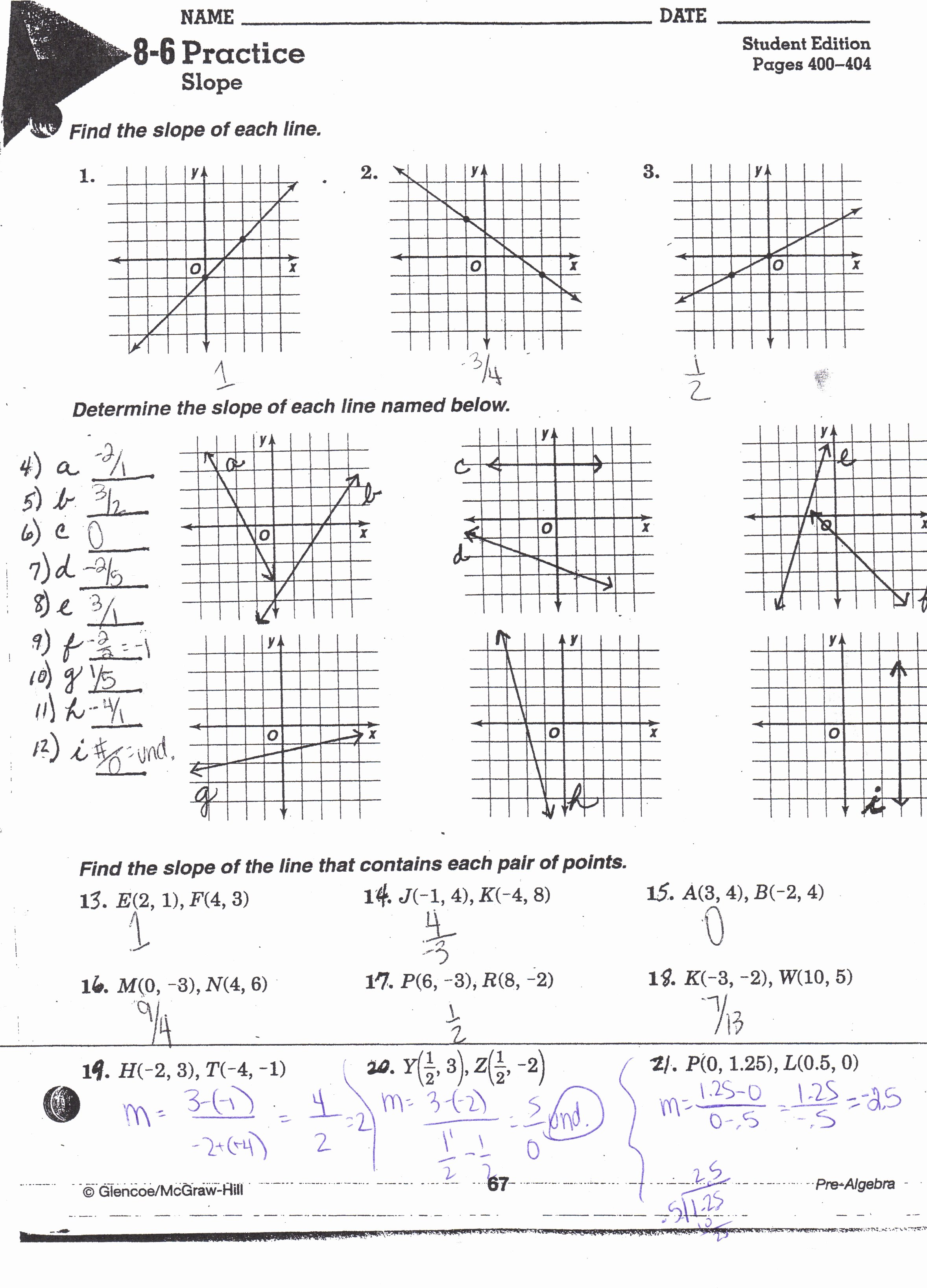 Slope Of A Line Worksheet Elegant Finding Slope A Line Worksheet the Best Worksheets