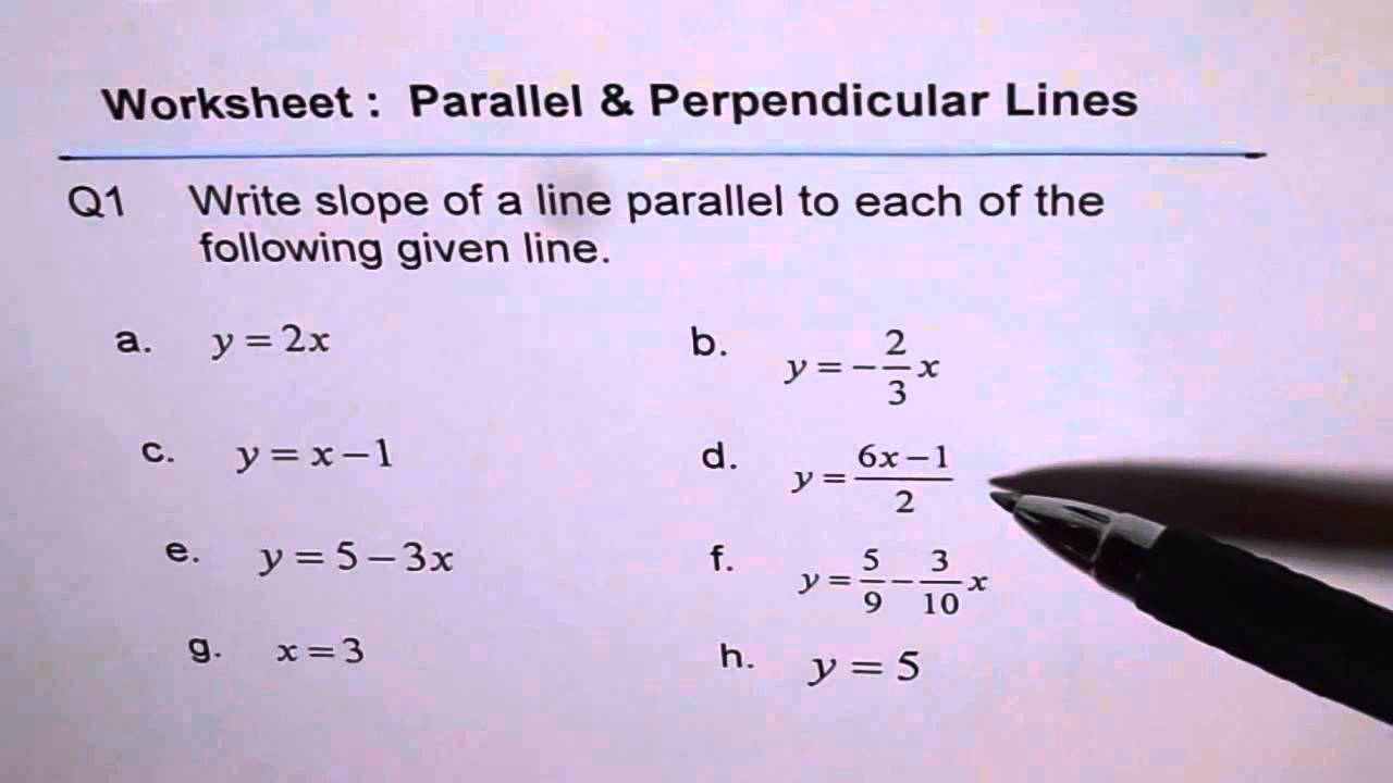 Slope Of A Line Worksheet Elegant Slope Of Parallel Line Worksheet Q1