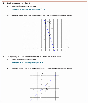 Slope Of A Line Worksheet Fresh Graph Equations Using Slope and Intercept solutions