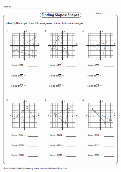 Slope Of A Line Worksheet Fresh Slope Worksheets