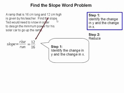 Slope Word Problems Worksheet Awesome How to Find the Slope Word Problem