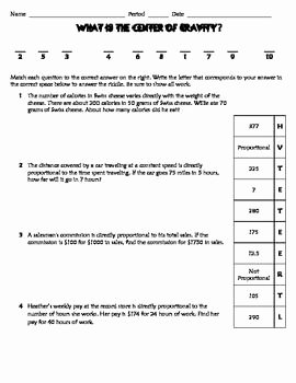 Slope Word Problems Worksheet Fresh Direct Variation Practice Worksheet Riddle Fun