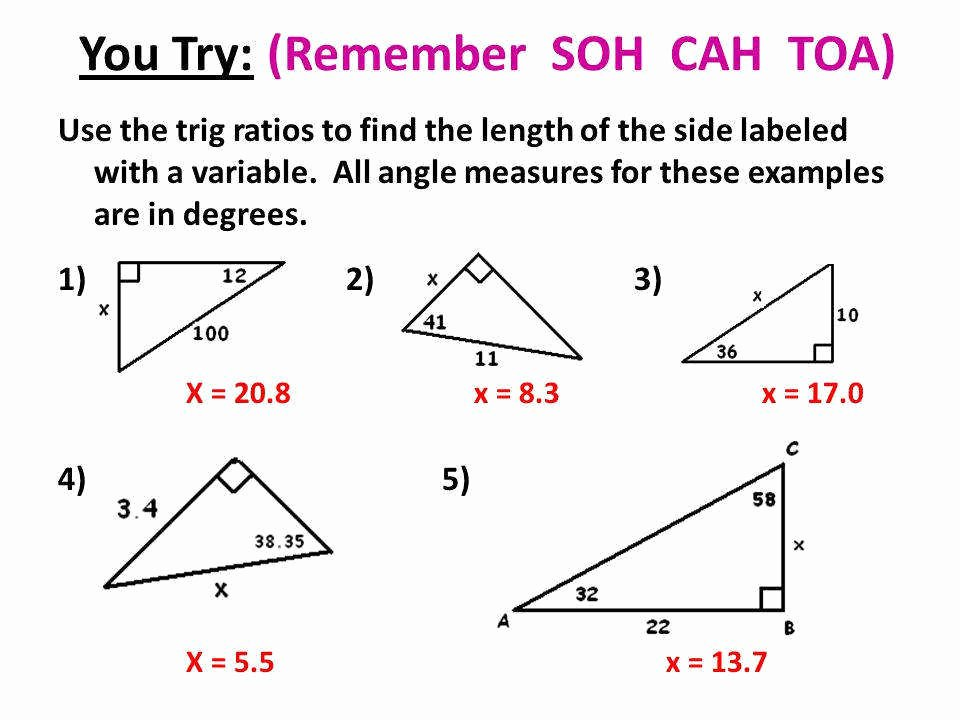 Soh Cah toa Worksheet Awesome soh Cah toa Worksheet