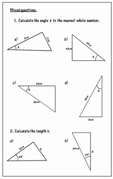 Soh Cah toa Worksheet Beautiful Trigonometry Worksheets soh Cah toa by 123 Math