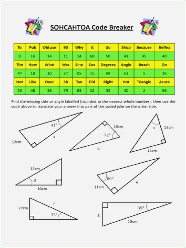 Soh Cah toa Worksheet Best Of sohcahtoa Worksheet