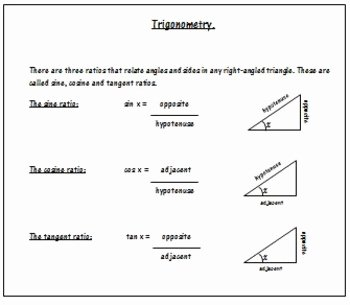 Soh Cah toa Worksheet Elegant Trigonometry Worksheets soh Cah toa by 123 Math