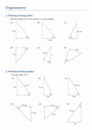 Soh Cah toa Worksheet Inspirational soh Cah toa Worksheet