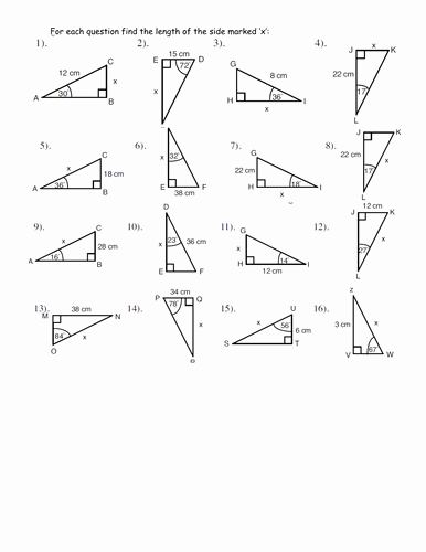 Soh Cah toa Worksheet Lovely Simple Trigonometry Worksheet by Jhofmannmaths