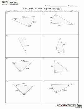 Soh Cah toa Worksheet New Inverse sohcahtoa Fun Worksheet by Mon Core Fun