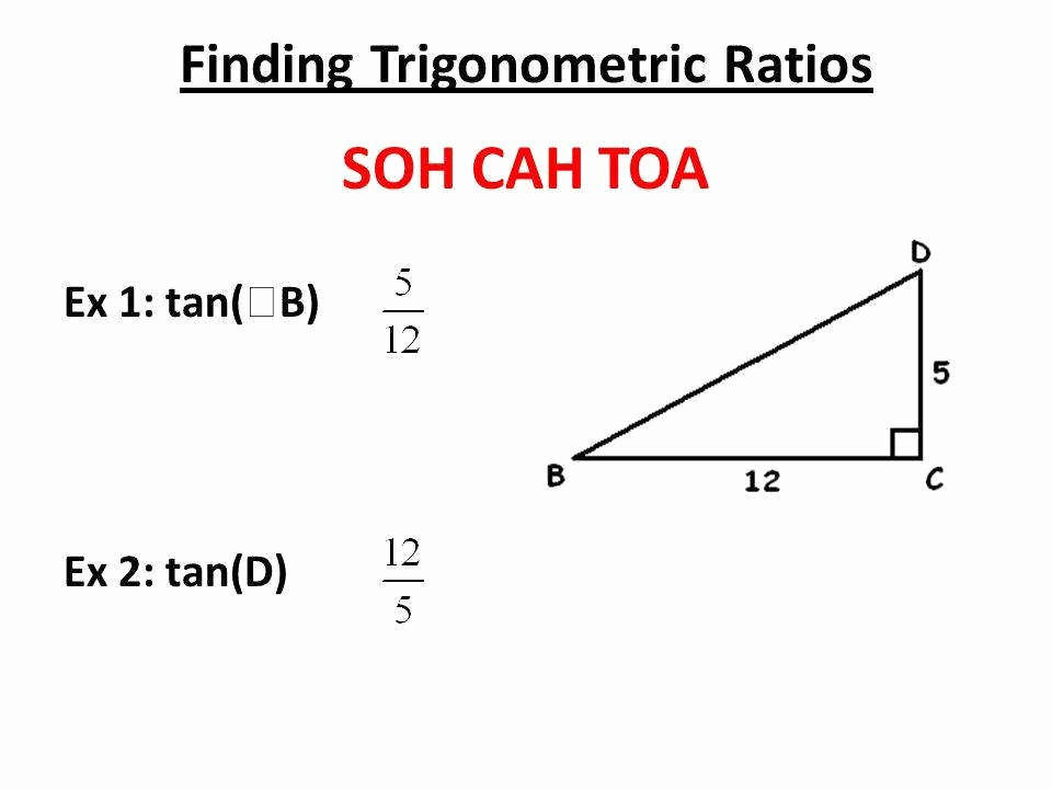Soh Cah toa Worksheet New sohcahtoa Worksheet