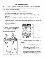 Soil formation Worksheet Answers Inspirational soil formation Name Block Date ' Ap Environmental