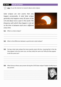 Solar and Lunar Eclipses Worksheet Awesome solar Eclipse Worksheet Dcjsss by Erhgiez Uk Teaching