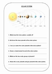 Solar System Worksheet Pdf Beautiful solar System Esl Worksheet by Inaumar
