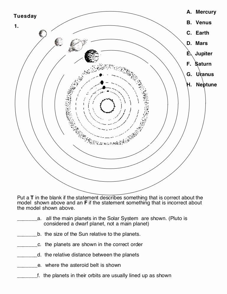 Solar System Worksheet Pdf Beautiful solar System Learning Activities Worksheet