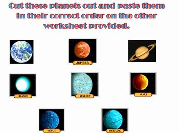 Solar System Worksheet Pdf Beautiful the solar System Cut and Paste Worksheet by Kelsey Pierce
