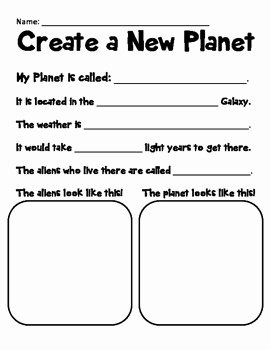 Solar System Worksheet Pdf Best Of Create A Planet solar System Writing Activity by