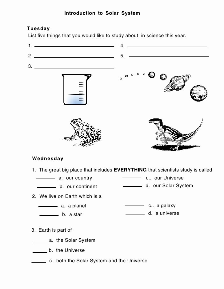 Solar System Worksheet Pdf Best Of solar Introduction solar System Worksheet 1