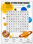 Solar System Worksheet Pdf Best Of solar System Word Searches 2 Levels Of Difficulty by