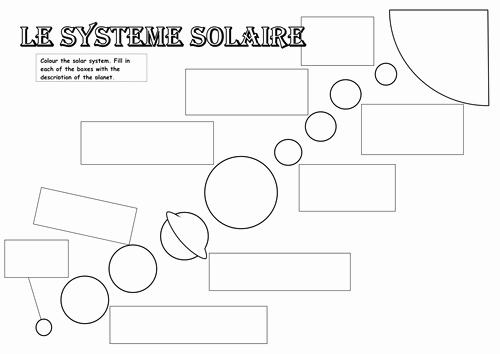 Solar System Worksheet Pdf Elegant Le Système solaire Worksheet by Oignon